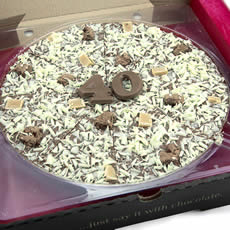 40th Birthday Chocolate Pizza - 10'