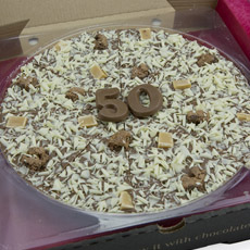 50th Birthday Chocolate Pizza - 10'