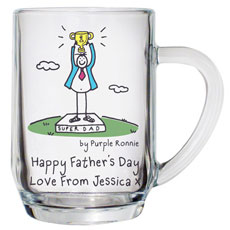 Personalised Purple Ronnie Super Dad Tankard
