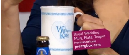 Royal Wedding Blue Heart Mug