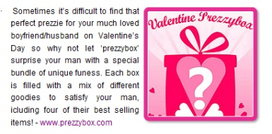 Valentines Prezzybox - For Him
