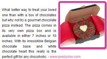 Valentines Chocolate Pizza