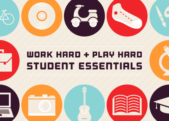 Work Hard + Play Hard Student Essentials
