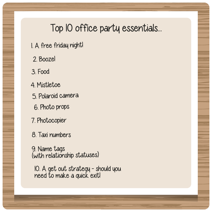 Top 10 Office Party Essentials