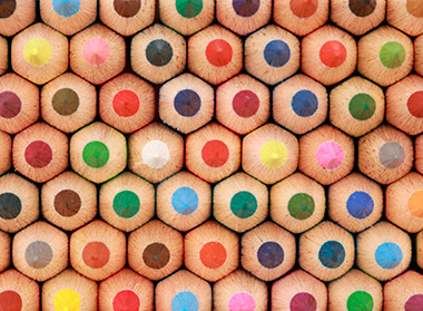tops of crayons